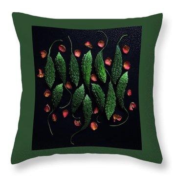 Bitter Melon Styling Throw Pillow