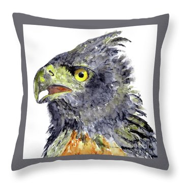 Black And Chestnut Eagle Throw Pillow