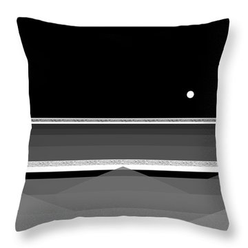 Black And White Abstract Seascape Throw Pillow