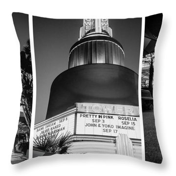 Black And White Triptych- Throw Pillow