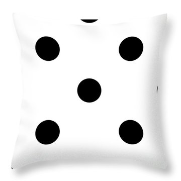 Black Dots On A White Background- Ddh610 Throw Pillow