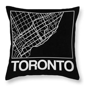 Black Map Of Toronto Throw Pillow