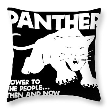 Black Panther Party Cotton Malcolm Hip Hop Throw Pillow