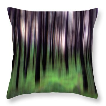 Throw Pillow featuring the photograph Black Pines In A Green Wood by Wayne King