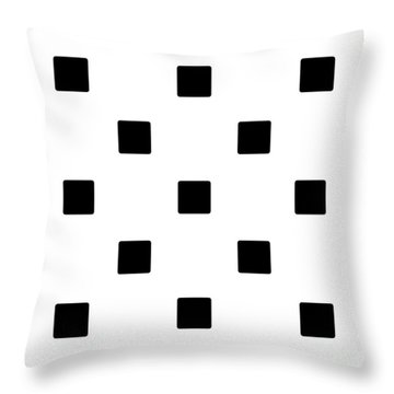 Black Squares On A White Background- Ddh574 Throw Pillow