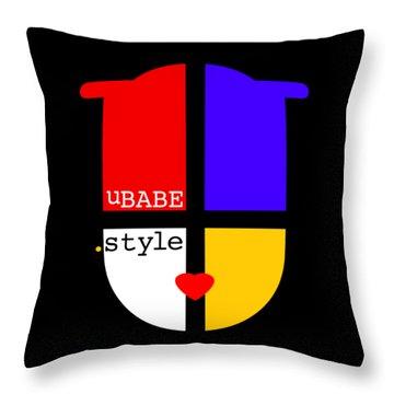 Black Style Throw Pillow