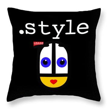 Black Style Ubabe Throw Pillow
