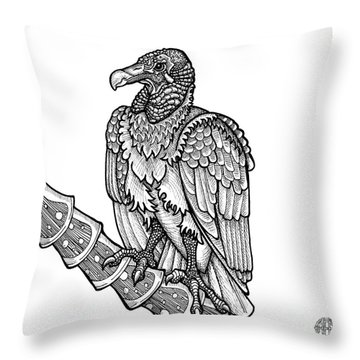 Black Vulture Throw Pillow