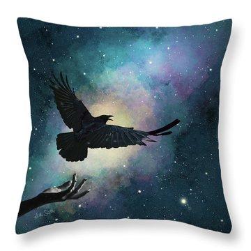 Blackbird Singing In The Dead Of Night Throw Pillow