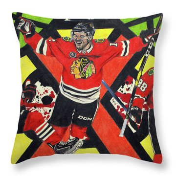 Blackhawks Authentic Fan Limited Edition Piece Throw Pillow