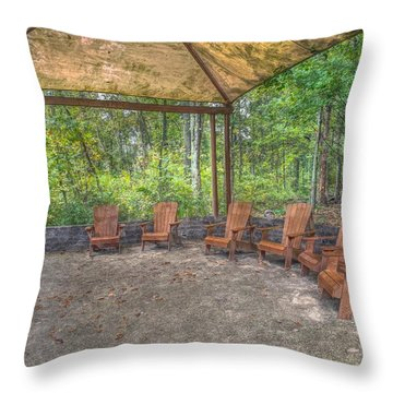 Blacklick Woods - Chairs Throw Pillow