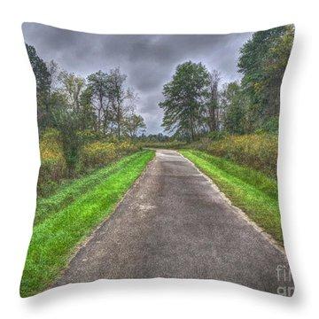 Blacklick Woods Pathway Throw Pillow
