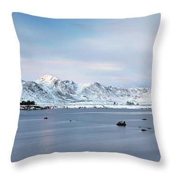Throw Pillow featuring the photograph Blackmount Sunrise - Glencoe by Grant Glendinning