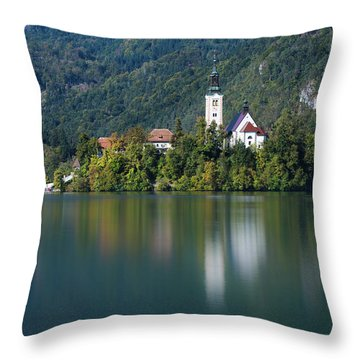 Bled Island Throw Pillow