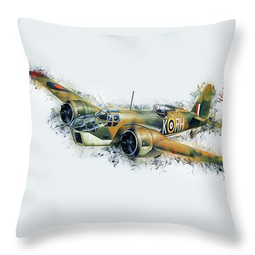 Blenheim Bomber Throw Pillow