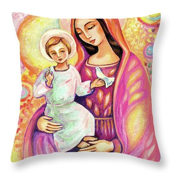 Blessing From Light Throw Pillow