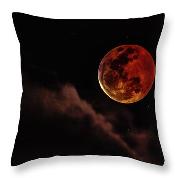Blood Moon Rising Throw Pillow