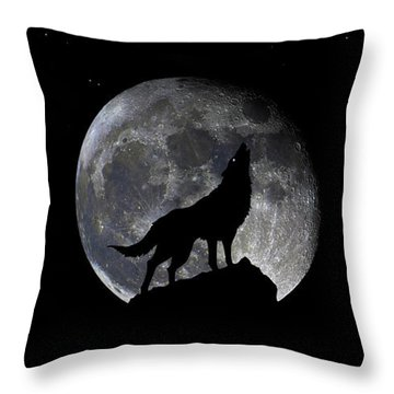 Pre Blood Red Wolf Supermoon Eclipse 873r Throw Pillow