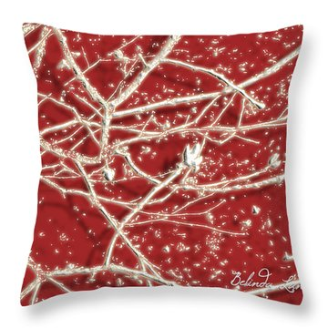Throw Pillow featuring the photograph Blood Song1 by Belinda Landtroop