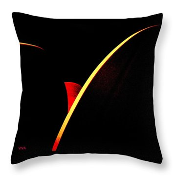 Bloodmoonrise Abstract Throw Pillow