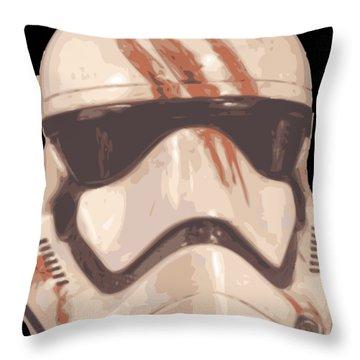 Bloody Helmet Throw Pillow
