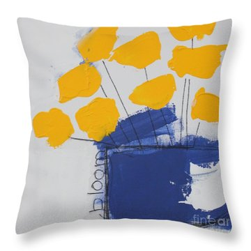Throw Pillow featuring the painting Bloom by Kim Nelson