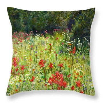Blooming Field Throw Pillow