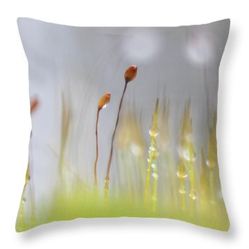 Blooming Moss Throw Pillow