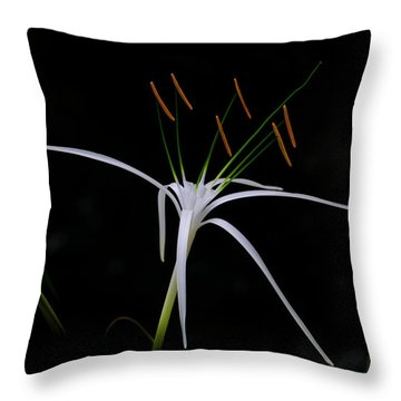 Blooming Poetry Throw Pillow