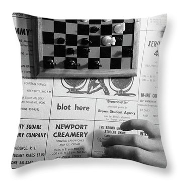 Blot Here, Aka Black's Move, 1972 Throw Pillow