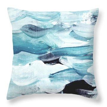 Blue #13 Throw Pillow