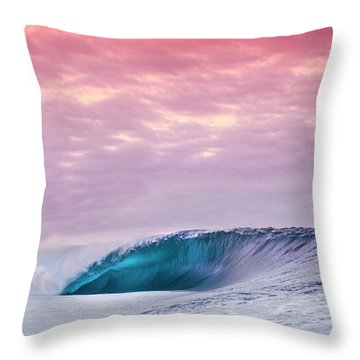 Blue Almond. Throw Pillow