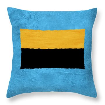 Blue And Square Theme I Throw Pillow