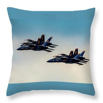 Blue Angels 2 X 2 Throw Pillow