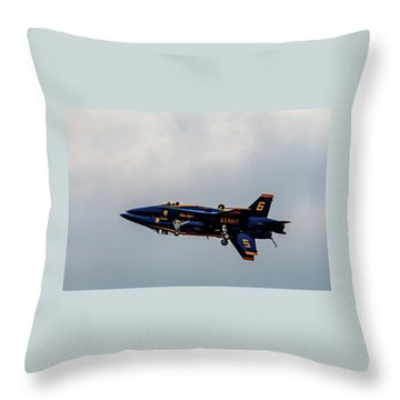 Blue Angels 5 And 6 As One Throw Pillow