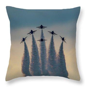 Blue Angels Delta Burst Throw Pillow