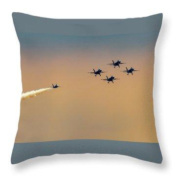 Blue Angels Pass Through Throw Pillow