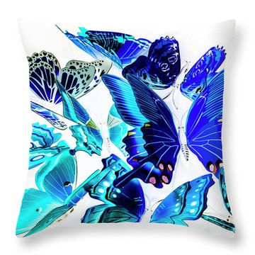 Blue Buggery  Throw Pillow