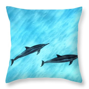 Blue Chill Throw Pillow