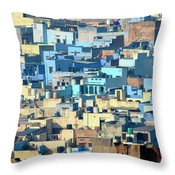Blue City Vista Throw Pillow