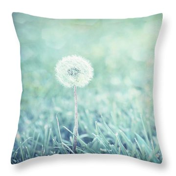 Throw Pillow featuring the photograph Blue Dandelion by Michelle Wermuth