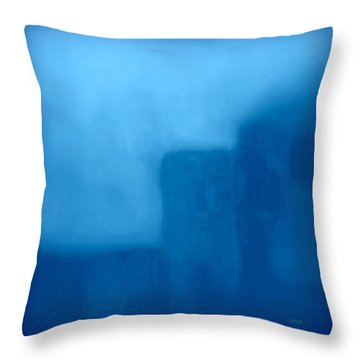 Blue Day - The Sound Of Silence  Throw Pillow