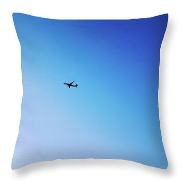 Throw Pillow featuring the photograph Blue Freedom by Lucia Sirna