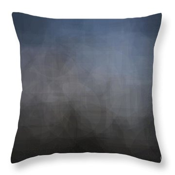 Blue Gray Abstract Background With Blurred Geometric Shapes. Throw Pillow