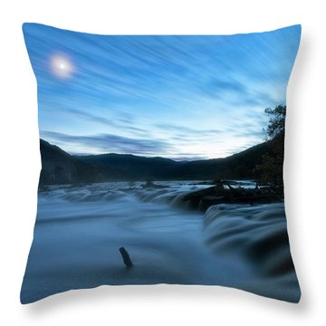 Throw Pillow featuring the photograph Blue Hour by Russell Pugh