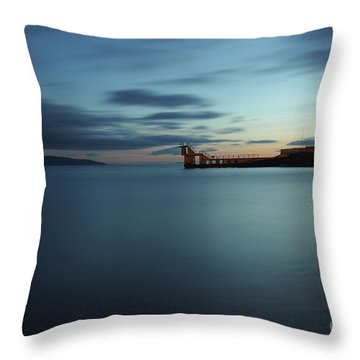 Blue Hour Salthill Throw Pillow