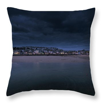 Blue Hour - St Ives Cornwall Throw Pillow