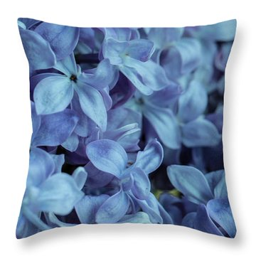 Throw Pillow featuring the photograph Blue Lilacs by Mark Shoolery