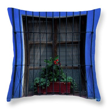 Blue-ming Beauty Throw Pillow