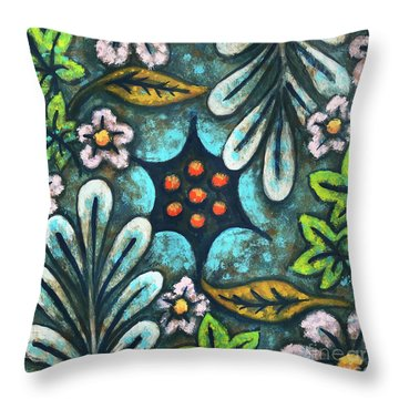 Blue Mood 2 Throw Pillow